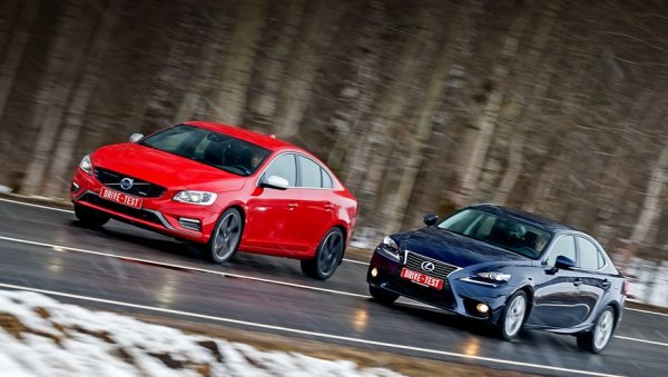 Плывём против течения на седанах Volvo S60 Т6 и Lexus IS 300h